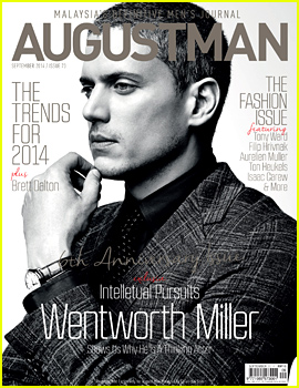 Wentworth Miller Covers 'August Man Malaysia' September 2014 (Exclusive)