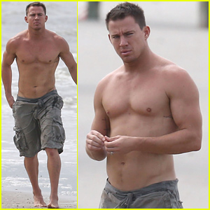 Channing Tatum Goes Shirtless, Shows Off His Perfect Body for a Family Beach Day!
