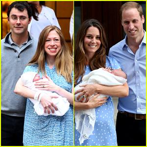Chelsea Clinton & Kate Middleton Debuted Babies in Similar Fashion!