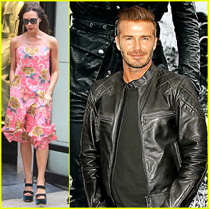 David Beckham Continues NYFW Fun While Victoria Flies Out