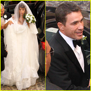 Elisabetta Canalis Marries Surgeon Brian Perri - See the Wedding Dress Pics!