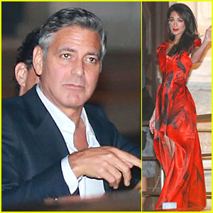 George Clooney & Amal Alamuddin Enjoy Dinner Before Big Wedding