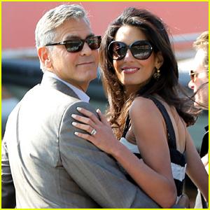 George Clooney & Amal Alamuddin Look So in Love Ahead of Their Weekend Wedding