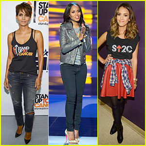 Halle Berry & Kerry Washington Raise Money For Stand Up to Cancer 2014