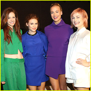Holland Roden Goes Bold in Blue For ICB Fashion Show