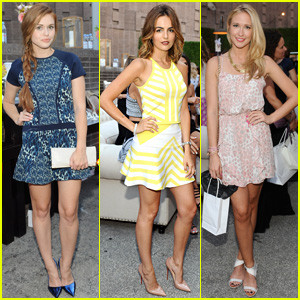 Holland Roden & Camilla Belle Help Launch 'Parker on Spring'