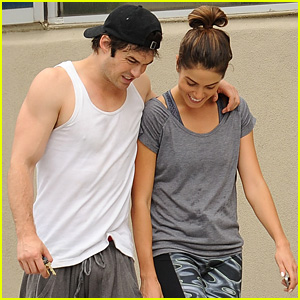 Ian Somerhalder & Nikki Reed Pack on Post-Gym PDA!