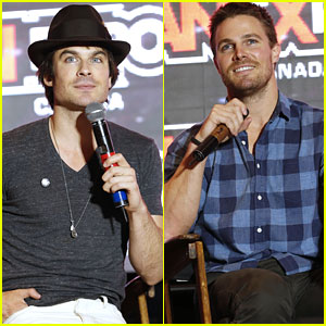 Ian Somerhalder & Stephen Amell Bring the Heat to FanExpo 2014!