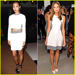 Jamie Chung & Allison Williams Are White Hot Hotties at NYFW