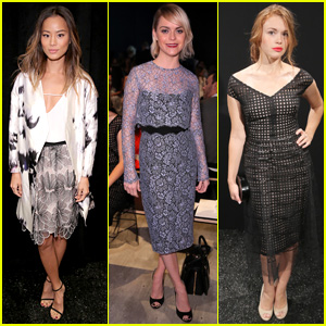 Jamie Chung & Taryn Manning Love Their 'Lela Rose' at NYFW