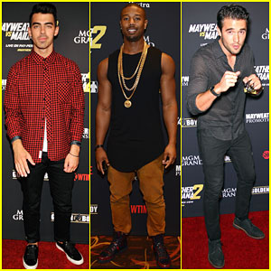 Joe Jonas & Michael B. Jordan Party in Vegas Before the Big Fight!