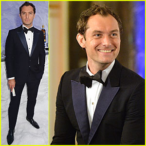 Jude Law Dresses to Impress For 'Symphony in Blue: A Journey To the Centre of The Glass'