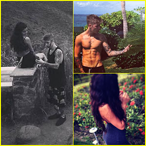 Justin Bieber Gets Shirtless & Romantic with Selena Gomez on Vacation!