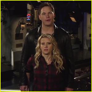 Kate McKinnon Hardcore Hits on Chris Pratt, Dismisses Anna Faris in 'Saturday Night Live' Promos - Watch Now!