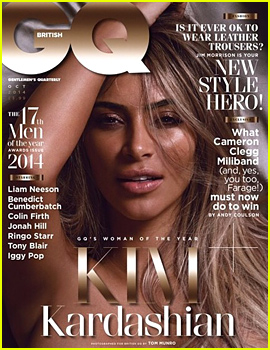Kim Kardashian Poses Topless for 'British GQ' October 2014