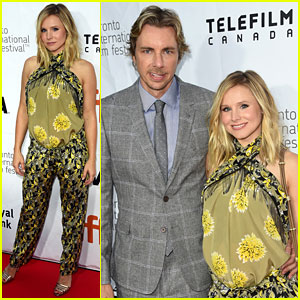 Pregnant Kristen Bell Supports Dax Shepard at 'The Judge' TIFF Premiere
