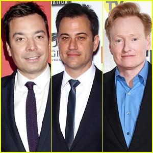 Late Night Hosts Jimmy Fallon, Jimmy Kimmel, & Conan O'Brien Take On the Celeb Nude Photo Hack - Watch Now!