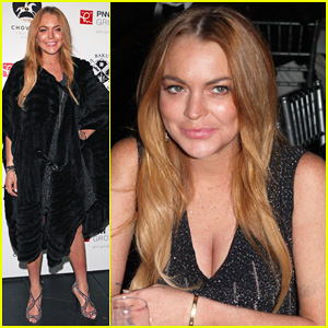 Lindsay Lohan Shows Love to the Camera at The Chovgan Twilight Polo Gala!