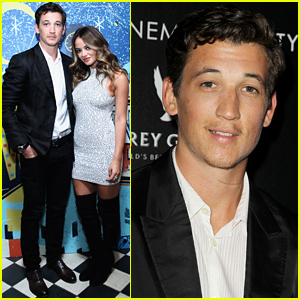 Miles Teller Promotes 'Whiplash' Alongside Girlfriend Keleigh Sperry
