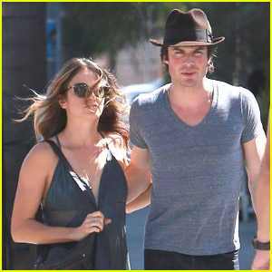 Ian Somerhalder & Nikki Reed Hold Hands On A Hot Day in Los Angeles