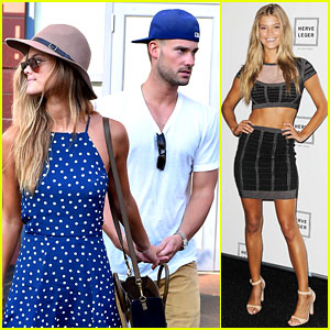 Nina Agdal & Boyfriend Reid Heidenry Hold Hands at US Open!