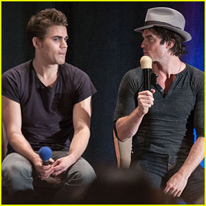 Paul Wesley & Ian Somerhalder Make Us Giggle in 'The Vampire Diaries' Season 5 Bloopers - Watch Here!