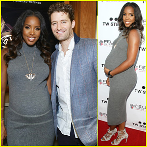 Pregnant Kelly Rowland Shows Off Baby Bump at Her TW Steel Timepiece Launch Party!