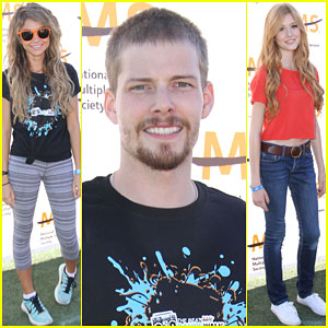 Sarah Hyland & Hunter Parrish Let Their Hair Down at Beat MS