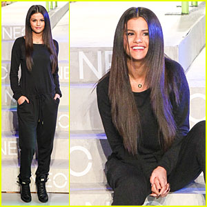 Selena Gomez Rocks Classic Black at Adidas NEO Label Show