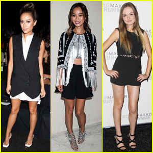 Shay Mitchell & Jamie Chung are BCBG Fashion Show Buddies at NYFW