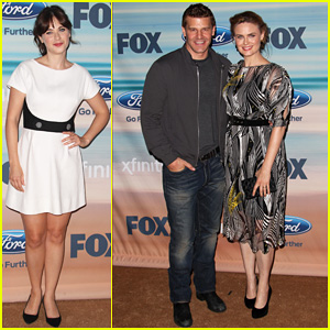 Zooey & Emily Deschanel: Fox Fall Eco-Casino Party 2014 Sisters!