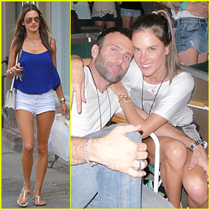 Alessandra Ambrosio & Jamie Mazur Can't Keep Their Hands Off Each Other at Kings of Leon Concert
