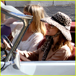 Angelina Jolie Drives a Vintage Car on 'By the Sea' Set