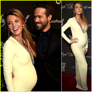 Pregnant Blake Lively Has a Beaming Ryan Reynolds By Her S