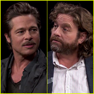 brad pitt sits down with zach galifianakis for the