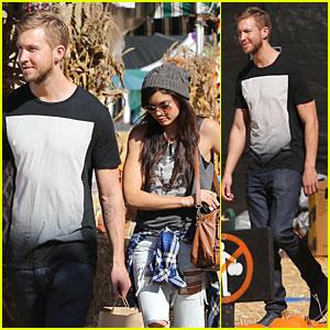 Calvin Harris & Girlfriend Aarika Wolf Prep For Halloween at Pumpkin Patch