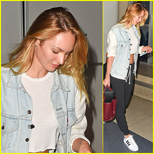Candice Swanepoel Trips While Filming a Commercial - But She Can Make Fun of Herself