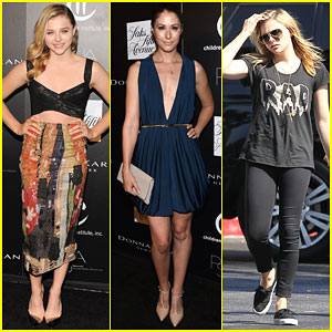 Chloe Moretz & Amanda Crew Show Their Support at the PSLA Autumn Party