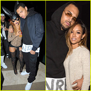 Chris Brown & Girlfriend Karrueche Tran Celebrate Amber Rose's 31st Birthday at Halloween Themed Party