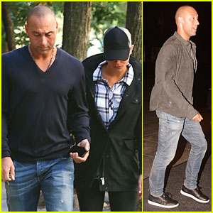 Derek Jeter   Hannah Davis Shoot Down Long Island Wedding Rumors By Being  in NYC bc419b17c48