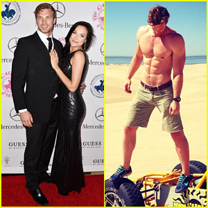 Derek Theler & Girlfriend Christina Ochoa Get Fancy for Hope Ball 2014 After Their Shirtless/Bikini Beach Adventure!