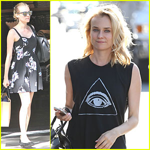 Diane Kruger Shops For Mens Clothes at The Grove