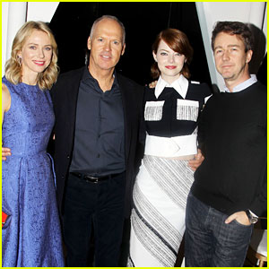 Emma Stone & Naomi Watts Join 'Birdman' Cast for a Luncheon!