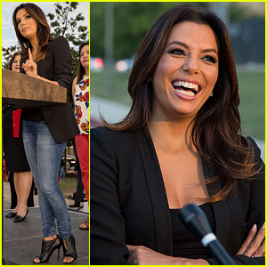 Eva Longoria Speaks at Leticia van de Putte Tour Bus Kick Off!