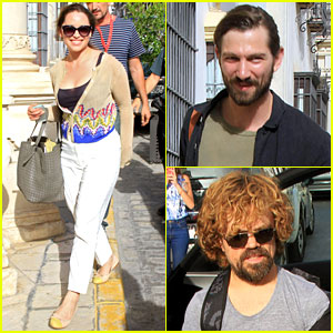 Emilia Clarke & Michiel Huisman Take a 'Game of Thrones' Filming Break in Spain!
