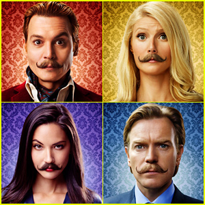 Johnny Depp & Gwyneth Paltrow Wear Matching Mustaches for 'Mortdecai'