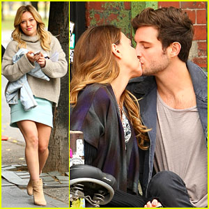 Hilary Duff's 'Younger' Co-Stars Share Some On-Set Kisses!