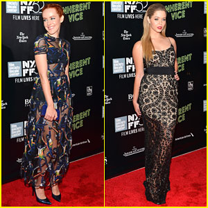 Jena Malone & Sasha Pieterse Heat Up the Red Carpet for 'Inherent Vice'