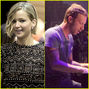 Jennifer Lawrence Joins Chris Martin at Kings of Leon Concert! (Exclusive)