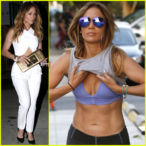 Jennifer Lopez Flaunts Super Toned Abs While Hitting The